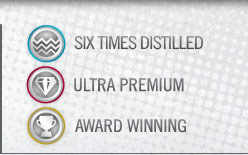 Vodka Description: Triple Distilled, Ultra Premium, Award Winning